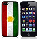 Graphic4You Drapeau Kurde Kurdistan Vintage Grunge Design Coque Étui Housse de Protection pour Apple iPhone 5 et 5S
