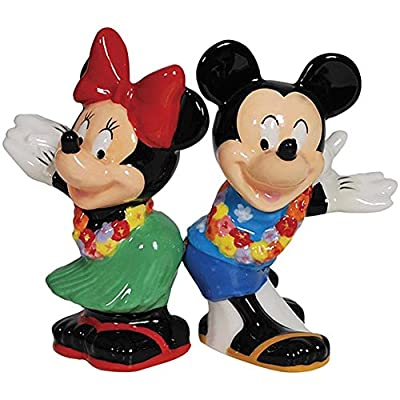 Salt & Pepper Shakers - Disney - Mickey & Minnie Hula Time New 18937 by Westland