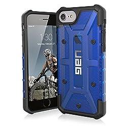Urban Armor Gear Plasma Schutzhülle Nach US-Militärstandard für Apple iPhone 8/7/6S/6 - Transparent (Blau) [Verstärkte Ecken | Sturzfest | Antistatisch | Vergrößerte Tasten] - IPH8/7-L-CB