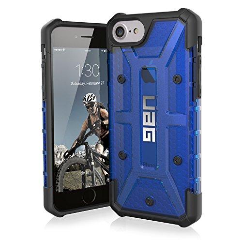 Urban Armor Gear Plasma Schutzhülle Nach US-Militärstandard für Apple iPhone 8/7/6S/6 - Transparent (Blau) [Verstärkte Ecken | Sturzfest | Antistatisch | Vergrößerte Tasten] - IPH8/7-L-CB Ultra Light Feather Case