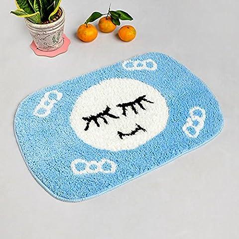 stuoie assorbenti igienici acqua/Ottomani/tappetini da bagno antiscivolo/Tappeti camera da letto-D (Avorio In Pelle Ottomana)