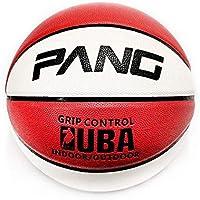 CN Baloncesto PU Rojo y Blanco Alto elástico Interior y Exterior Resistente al Desgaste N ° 7,Rojo y Blanco,Numero 7