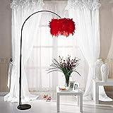 Lampe Big plumeux Foyer Lampadaire Lumière Salon Ajustable Canapé liseuse nuit Chambre plume Lampadaire debout Lumière lampadaire sur pied salon
