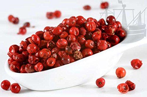 Pfeffer rot, ganz, Rosa Pfeffer/Rosa Beere, Spezialität, besonderer Eigengeschmack, 50g - Bremer Gewürzhandel - Pfefferkörner Rote