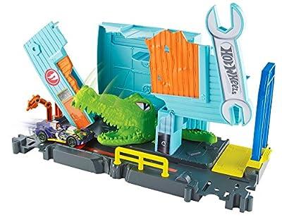 Mattel Hot Wheels FNB06 Hot Wheels City Kroko-Angriff Werkstattset von Mattel