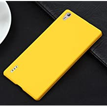 "Prevoa ® 丨Original Colorful Hard Plastic Cover Funda Para Huawei Ascend P7 smartphone 5.0"" Smartphone --Amarillo"