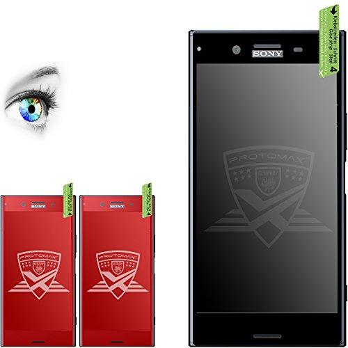 Preisvergleich Produktbild 2 x PROTOMAX 3D Schutzglas für SONY XPERIA XZ SCHWARZ, 9H Panzerglas Fullcover, KLARGLAS, Glasfolie Displayschutz (2er Pack)