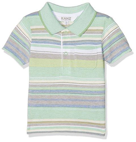 Kanz Kanz Baby-Jungen Poloshirt Polohemd 1/4 Arm Mehrfarbig (Y/D Stripe 0001) 56