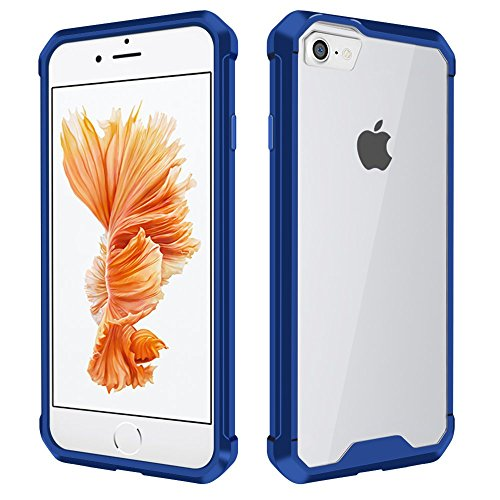 iPhone 6 Hülle, iPhone 6S Case, Kristall Transparent Klar Heavy Duty Ultra Slim Dämpfung Kratzfest Anti-Yellow Hard PC Cover für Apple iPhone 6 Hülle/iPhone 6S Schutzhülle, Blau