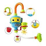 INCHANT Baby Bad-Spielzeug Wasser-Dusche Sprayer Wasserspielzeug Badewanne Brunnen Spielzeug für Kinder Kleinkind Badspielzeug mit Sucker Early Education Interaktive über 3 Jahre älter Toddlers (Blau) - 8