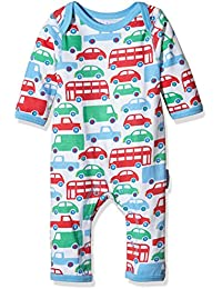 Toby Tiger Baby Boys' Super Soft Transport Printed Sleepsuit Romper