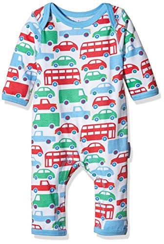 Toby Tiger Baby - Jungen Spieler Super Soft Transport Printed Sleepsuit, Mehrfarbig (White/Red/Blue/Green), 56
