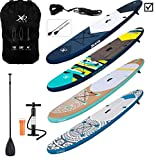 XQ MAX INFLATABLE SUP PADDLE BOARD KAYAK 10FT WITH ACCESSORIES (Jeans XQ Max)