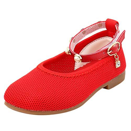 SuperSU-sandalen Mädchen ▶▷ Kinder Sommer Netz Weich Gemütlich Einfarbig Perle mit Schnalle Design Mary Jane Halbschuhe,Mädchen Sandalen Kleinkind Schuhe Lässigeschuhe Tanzschuhe