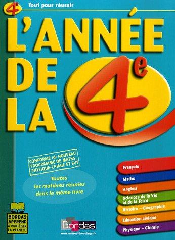 L'AD LA 4E TOUTES LES MATIERES REUNIES DANS LE MEME LIVRE (ancienne édition) par Sophie Pailloux-Riggi, Fabienne Pegoraro, Géraud Chaumeil, Patricia Hennequin