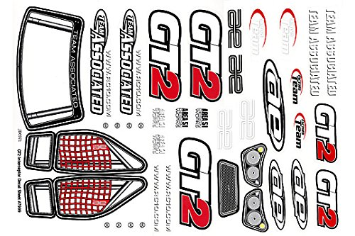 Team Associated AE7999 - GT2 Decal Sheet