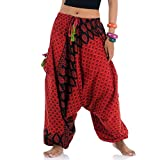 Produkt-Bild: Patchwork Hippie Hose Haremshose Aladinhose Pumphose für Damen & Herren 36 38 40 Rot
