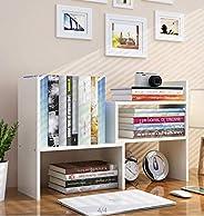 Expandable Wood Desktop Bookshelf Desktop Organizer Office Storage Rack Wood Display Shelf - Free Style Displa