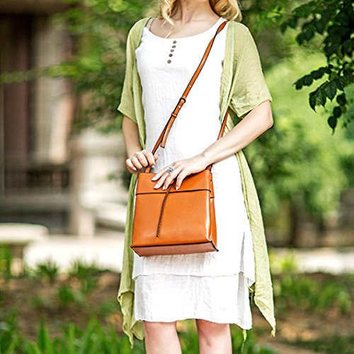 Frauen Klassische Tote Handtasche Weiches Leder Große Messenger Bags Für Frauen Urlaub Einkaufstaschen Gym Girl Purse Orange