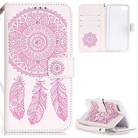 iPhone 7 Cover Bumper,iPhone 7 Custodia in Pelle,URFEDA 2016 Neo Disegni Vintage 3D Brillantini Glitter Diamanti Fantasia Marvel Rigida Semplice Ringke Design Bianco e Rosa Dreamcatcher Campanula Henna Donna Uomo Morbida Soft Ultra Slim PU Leather Pelle Wallet Portafoglio Anti-urti Resistente Antishock Protettiva Caso Custodie Bumper per Apple iPhone 7 4.7
