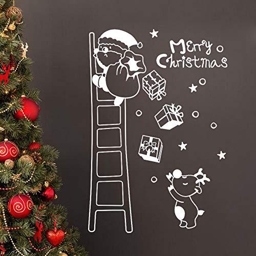 Mitlfuny Weihnachten Home TüR Dekoration,Wand Fenster Aufkleber Santa Claus Weihnachten Xmas Vinyl Kunst Dekoration Decals