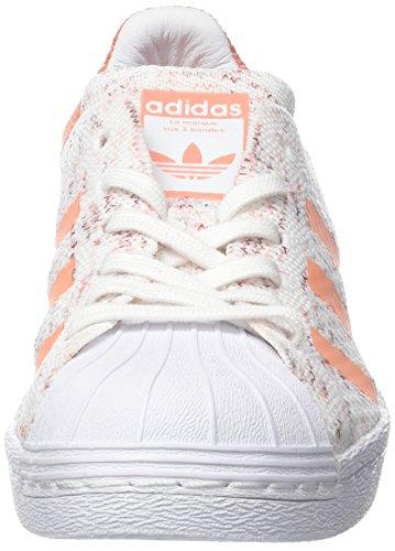 adidas Damen Superstar 80s Prime Knit Gymnastikschuhe Elfenbein (Footwear White/collegiate Burgundy/semi Flash Orange)