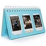[Fujifilm Instax Mini Foto Album] - CAIUL 60 Taschen Kalender Fotohüllen für Mini 70 7S 8 8+ 9 25 50 90/ Pringo 231/ Instax SP-1 SP-2/ Polaroid PIC-300P/ Polaroid Z2300 Film (Blau)