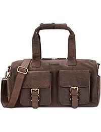 LEABAGS Munich sac à main rétro-vintage en véritable cuir de buffle