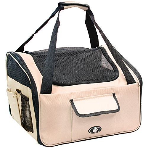 Me & My Pets Cat/Dog Car Seat/Carrier - Cream - Choice of Size