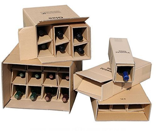 flaschen verschicken 10x 1er Flaschen Versandkarton für Weinflaschen UPS DHL geprüft Weinversandkarton Wein Flaschen Versand Verpackung 10 komplette Kartons