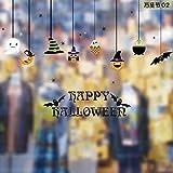 Dabixx Halloween Fenster Aufkleber Wasserdicht Abnehmbare Wandaufkleber Nette Spooky DecorationHanging Dekore
