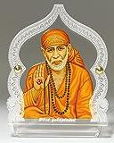 #7: Eknoor Car Dashboard Idol- Goldplated- Sai Baba ji with japa mala (prayer beads)