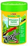 Sera 00940 Spirulina Tabs 100 ml - Pflanzenfutter aus Hafttabletten mit hohem Spirulina-Anteil (27%)