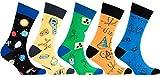 Socks n Socks Männer 5-Paar Luxus Spaß Cool Bunte Baumwollsocken Geschenkbox