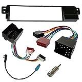 AERZETIX Adaptateur Fa/çade Cadre R/éducteur 1DIN Moulage Cache en Plastique pour remplacer Changer Monter autoradio dorigine par Un Radio Standard de Voiture Auto