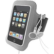 Igadgitz Plateado Brazalete Armband para Apple iPod Touch 2ª 3ª 4ª Gen Sport Deporte