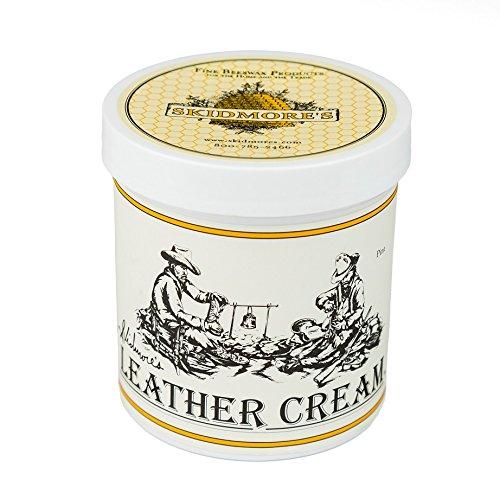 Crema per Cuoio Skidmore's Original | Formulazione 100% naturale e atossica per pulire e ammorbidire il cuoio | Ripristino di selle, stivali da moto, cappotti, guanti, sovrapantaloni, cingh