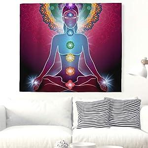 Yoga Chakra Meditación pared Alfombra