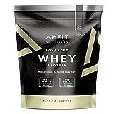 Marca Amazon - Amfit Nutrition Proteína Whey de suero de leche sabor vainilla, 64 porciones,  1984 g