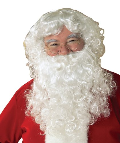 Rubie 's Offizielles Santa Weihnachtsmann Bart und Perücke (Classic) Einheitsgröße für Erwachsene