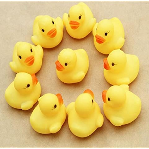 Doinshop Brand NEW One Dozen (12) Rubber Duck Ducky Duckie Baby Shower Birthday Party Favors by Baby hope - Ducky Baby Shower