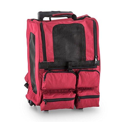 oneConcept Great Tour • Transporttasche • Hunderucksack • strapazierfähig • wasserdicht • reißfest • Zugangsklappe mit Reißverschluss • größenverstellbare Schultertragegurte • 4 Taschen • rot