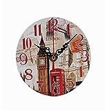 ZEZKT-Home Vintage Wanduhr Uhr Dekorative, Wanduhr Lautlos Ruhige Wanduhr Ohne, Moderne Universal Stille Indoor Quarz Wohnzimmer Buero Kueche (B)