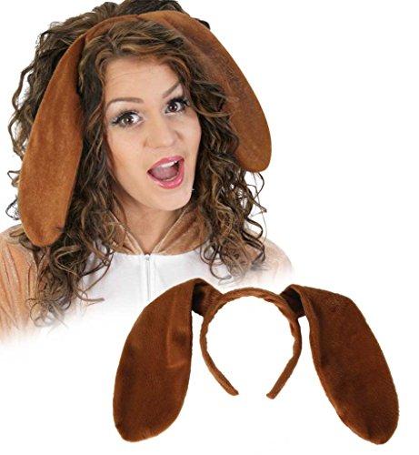 Haarreif Hundeohren, für Karneval, Fasching, ()