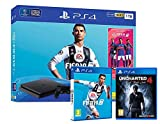 PS4 Slim 1Tb Negra Playstation 4 Consola + FIFA 19 + Uncharted 4