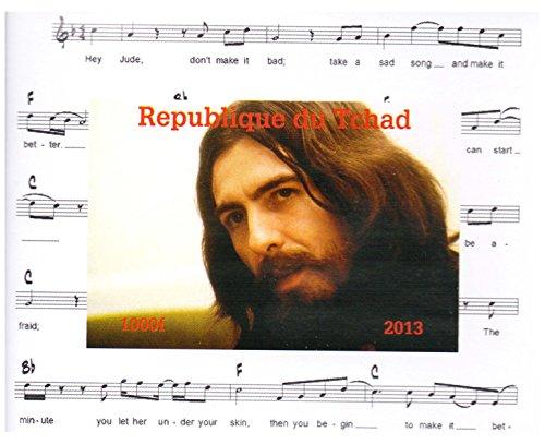 La collezione Beatles - George Harrison Imperforate francobollo minifoglio miniatura - condizioni superbe e mai incernierate - 2013 / Ciad / 1000F