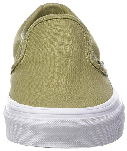 Vans Unisex-Erwachsene Classic Slip-On Sneaker Grün (Mono Canvas)