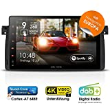 Autoradio Android 8.0 ABW-9046 für BMW 3er E46 (1998-2007) inkl. Can-Bus | GPS Navigation (Europa-Karten) | DAB+ | Quad-Core | 4K Ultra HD Video | WLAN | Bluetooth 4.0 (iOS/Android) | MirrorLink | RDS