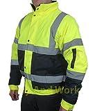 Fast Fashion Herren Jacke 2 Mit Zwei Tönen Hi Viz Wasserdicht Gepolsterte Bomberjacke Reflektierende Arbeitskleidung Mantel - 3