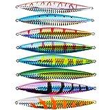 Aorace 8pcs/lot de los pescados plomo 8 color señuelos de pesca Aparejo de pesca del cuchillo de metal Jigging JIG 65g-2,3 oz